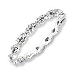 Stackable Expressions™ 1/3 CT. T.W. Diamond Cascading Eternity Ring in Sterling Silver