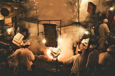 A Night in Marrakech by Daniel Bosma on 500px the Djemaa el-Fna in Marrakech