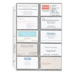 Collectible trading card plastic pocket page sleeve x10 trading business card sleeves feature heavyweight side loaded polypropylene pages that fit into standard three ring binders reheart Gallery