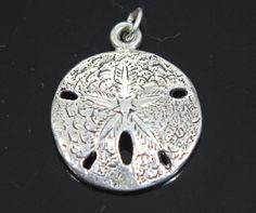 Sand Dollar Charm/Pendant Sterling Silver