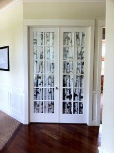 My diy no sew french door shades for under 30 house diy french door window covering using ikea panels hooks and dowel rods solutioingenieria Gallery