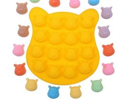 ALVA Mier 16 Winnie the Pooh Chocolate Mold small cake mold 5pcsno.CM34 *** Additional details at the pin image, click it  : Candy Making Supplies