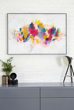 Buy Artist Collection Bright Abstract by Victoria Friend from the Next UK online shop Canvas Wall Art, Canvas Prints, Art Prints, Painted Side Tables, Football Wall, Abstract Styles, Home Decor Wall Art, Print Pictures, Artist At Work