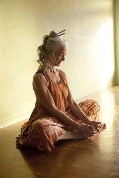 This will be me someday, with my long grey hair still doing yoga.