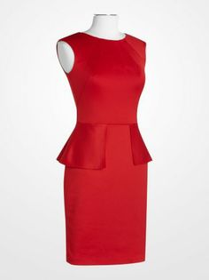 8c7f36c017580 Nine West Red Peplum Dress | K&G Fashion Superstore Red Peplum Dresses,  Sheath Dresses,