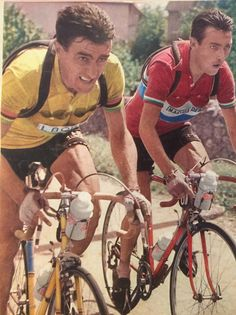 1955 TdF, Louison Bobet and Charly Gaul.  Bobet won that year.  It would take Charly three years to finally win it in '58,  leaving Louison more than thirty minutes behind.