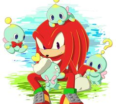 Knuckles and Chao.
