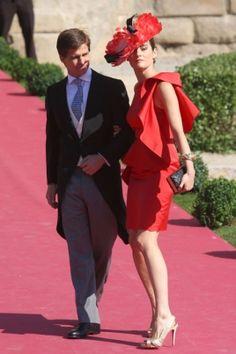 Sobre la alfombra roja de la boda de Rafael Medina y Laura Vecino