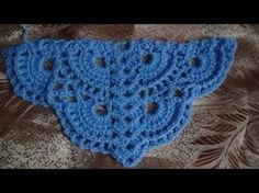 Crochet : Punto en V en Relieve - YouTube