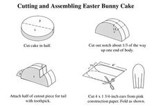 Cut out instructions for the Easter bunny cake - INVALUABLE!