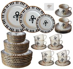 Lot Detail - 50 Piece Set of China From Prince's Wedding -- Featuring Prince's Love Symbol