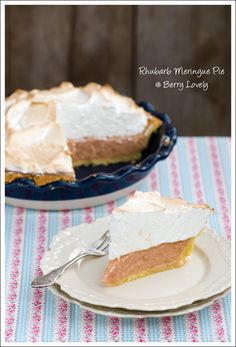 From Berry Lovely - Rhubarb Meringue Pie