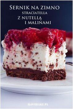 Sernik straciatella z malinami i nutellą ilovebake.pl #nutella #straciatella #raspberry