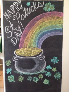 St. Patrick's day chalk art