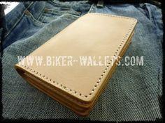 """Ruger"" 6"" Custom Handmade Leather Men's Biker Wallet"