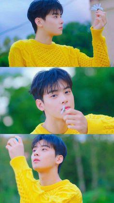 Beauty comes out from a perfect angle Handsome Korean Actors, Handsome Boys, Korean Star, Korean Men, Cha Eunwoo Astro, Astro Wallpaper, Sanha, Lee Dong Min, Lee Soo