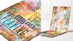 A Video by Shari Carroll for the Simon Says Stamp Blog on her Gorgeous Top Flipping Art Journal.  July 2014