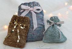 Knitvent Week 4 is now live! Adorn Gift Bags pattern by Helen Stewart