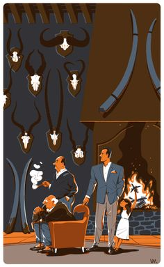 The Living and the Dead by Vincent Mahé, via Behance - design inspiration. Le Clan, Ligne Claire, Heart Illustration, Illustration Techniques, Movie Poster Art, Art Studies, Art Design, Illustrations Posters, Comic Art