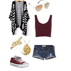 A fashion look from February 2015 featuring Topshop tops, Abercrombie & Fitch shorts and Converse sneakers. Browse and shop related looks.