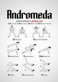 Andromeda workout.
