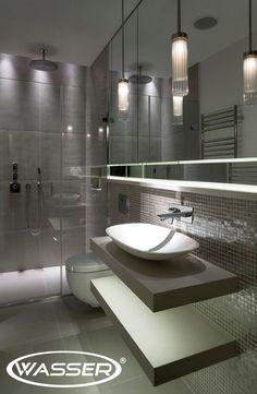 Badezimmer Schiefergrau Anthrazit Fliesen Begehbare Dusche Glaswand |  Bathrooms | Pinterest | Interiors, Bath And Bath Room