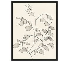 Charcoal Leaves Framed Print #potterybarn