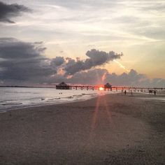 Fort Myers Beach Pier at sunset | by @kyle2786, Statigram