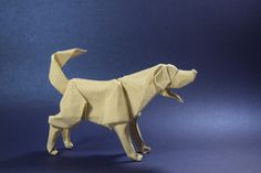 Labrador Retriever - Gen Hagiwara by Jack Dreyil Arts And Crafts, Paper Crafts, Dog Sculpture, Origami Art, Paper Folding, Pretty Cards, Paper Goods, Scrapbooks, Collages