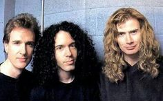 David Ellefson, Marty Friedman and Dave Mustaine