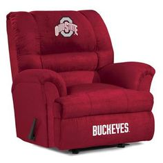 Ohio State University Big Daddy Recliner. i will need this in my future all Ohio State basement