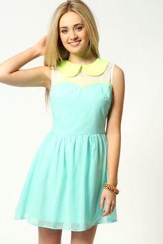 Image 4 of Sugarhill Boutique Lace Up Back Dress in Milkshake ...