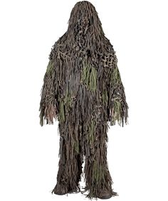 Jack Pyke of England Ghillie suit Camouflage netting suit comprising of long jacket separate hood gaiters in woodland camo