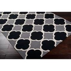 @Overstock - Hand-woven in wool, this rug features vibrant colors of jet black, pewter, papyrus. With extravagant details and a one-of-a-kind design, this rug is the perfect addition to any home.http://www.overstock.com/Home-Garden/Hand-woven-Grey-Wool-Bohlin-Rug-36-x-56/6562050/product.html?CID=214117 $106.49