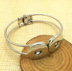 Ginger Snaps Jewelry Inspired Charm Stretch Spring Latch Bracelet - Silver