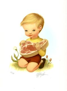 Meat Boy, by Mark Ryden. (Limited Edition Print, 1998).