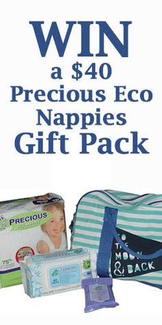 #Win a $40 #Precious Eco #Nappies Gift Pack Giveaway, Competition, Lunch Box, Packing, Baby, Gifts, Free, Bag Packaging, Presents