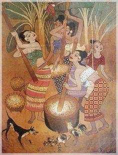Chalerm Nakirat Buddha Painting Canvas, Artist Painting, Folk Art, Art Theme, Thailand Art, Cambodian Art, Buddha Painting, Painting, Thai Art