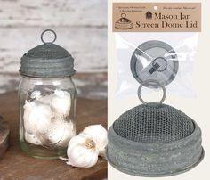 Mason+Jar+Screen+Dome+Lid+-+Barn+Roof