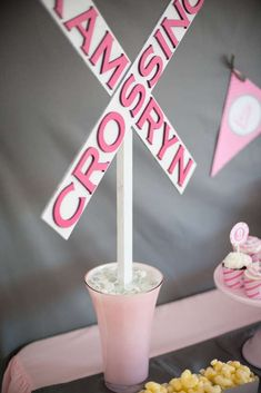 A Girly Train Themed Party | CatchMyParty.com