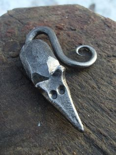 Hand forged decorative mouse by BlacksmithPB on Etsy, $16.00