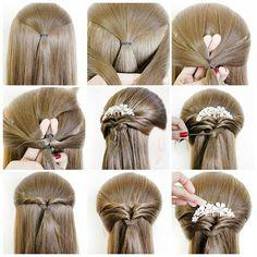 Причёска повседневная, но так же можно использовать как и вечернюю.