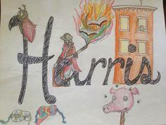 Ms. Harris!!! :D #nameproject #identityframes