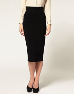 Classic Gal Must Have #22 - black knee-length pencil skirt, remember Sandra Bullock's work suit in The Proposal? demand respect and attention while still looking ladylike