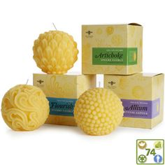 Beeswax Sphere Candles by Big Dipper Wax Works - BuyGreen.com