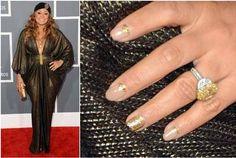 Tamia Nail Art At Grammy's 2013