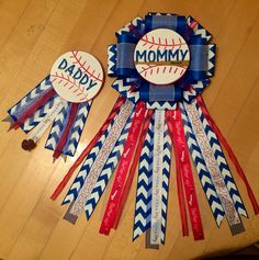Baseball themed Baby Shower mum/corsage