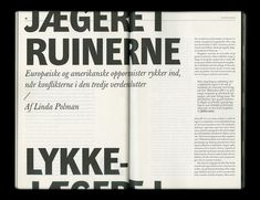 Stefan Thorsteinsson – Typographic layout for Lettre Internationale No. Web Design, Graphic Design Layouts, Book Design Layout, Print Layout, Brochure Design, Page Design, Typography Layout, Graphic Design Typography, Lettering
