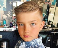 Swept Pompadour with Buzzed Fade - Toddler Boy Haircut