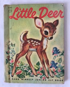 Little Deer Rand McNally Junior Elf Book Vintage Childrens Book 1950s #8080 #RandMcNally